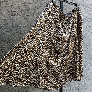 NWT Worthington Leopard Print Fit& Flare Skirt 22W